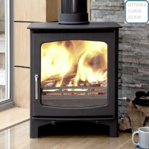 Ottawa Curve 10KW - Wood Stove Fireplace Wholesale - South Africa