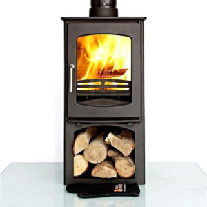 Ottawa Curve 10KW With Log Stand - Wood Stove Fireplace Wholesale - South Africa