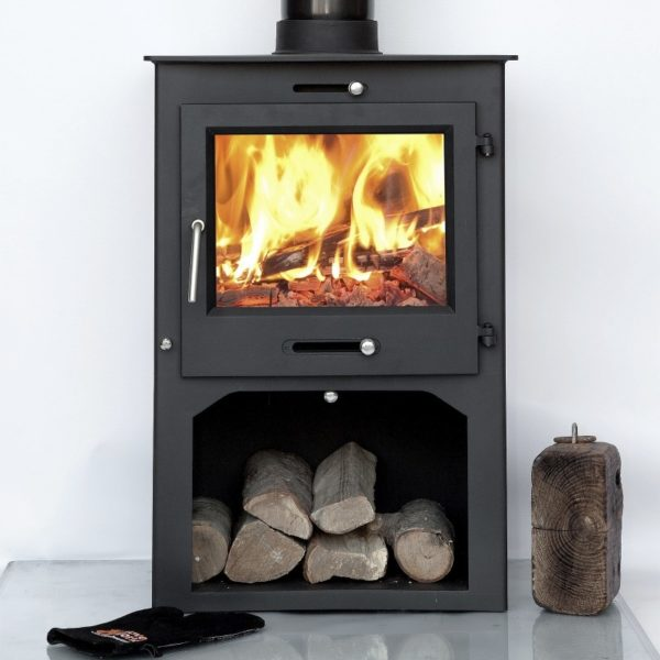 Ottawa Square 12KW With Log Stand - Wood Stove Fireplace Wholesale - South Africa