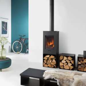 Wanders Elm with log store - Wood Stove Fireplace Wholesale - South Africa